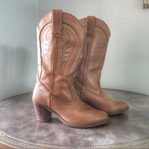 08fbb47f9 Vintage Cowboy Boots Size 8 Western Boho Cowgirl